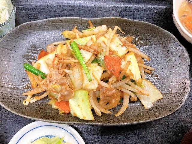 500円お得ランチ野菜いため定食