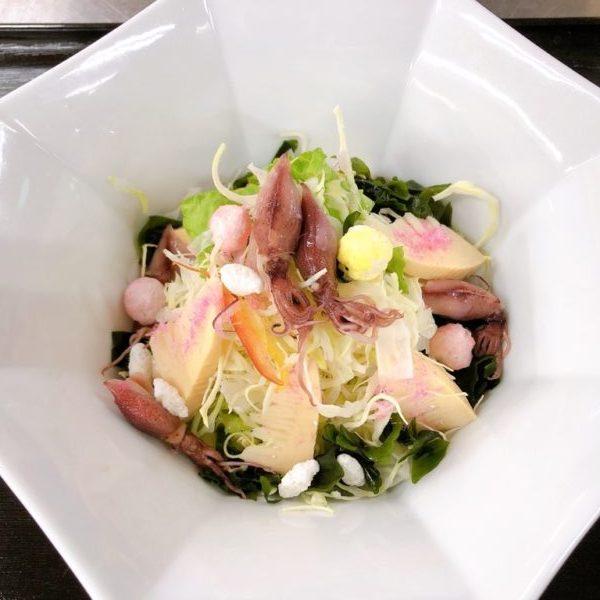 ホタルイカと竹の子のサラダ